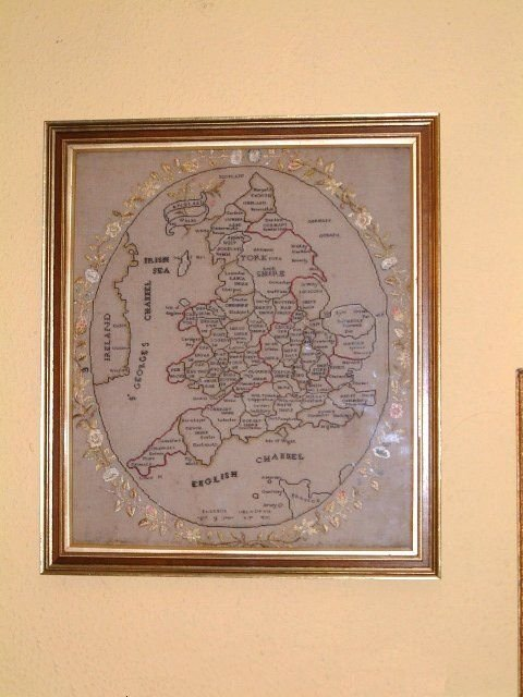 early 19th century sampler map of england wales
