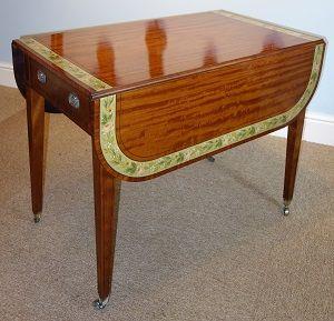 georgian painted satinwood pembroke table