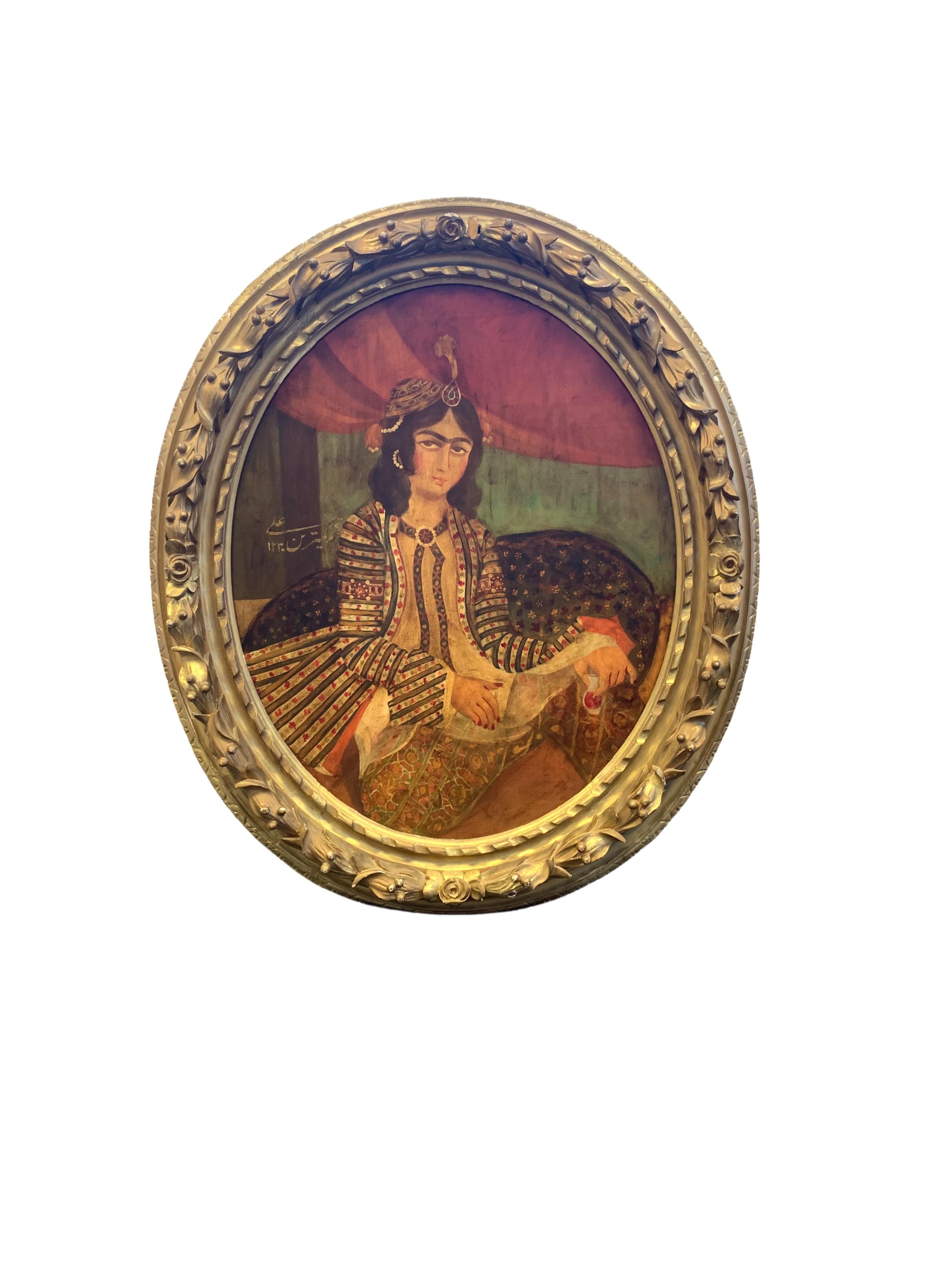 a fine portrait of a lady qajar iran 19th century