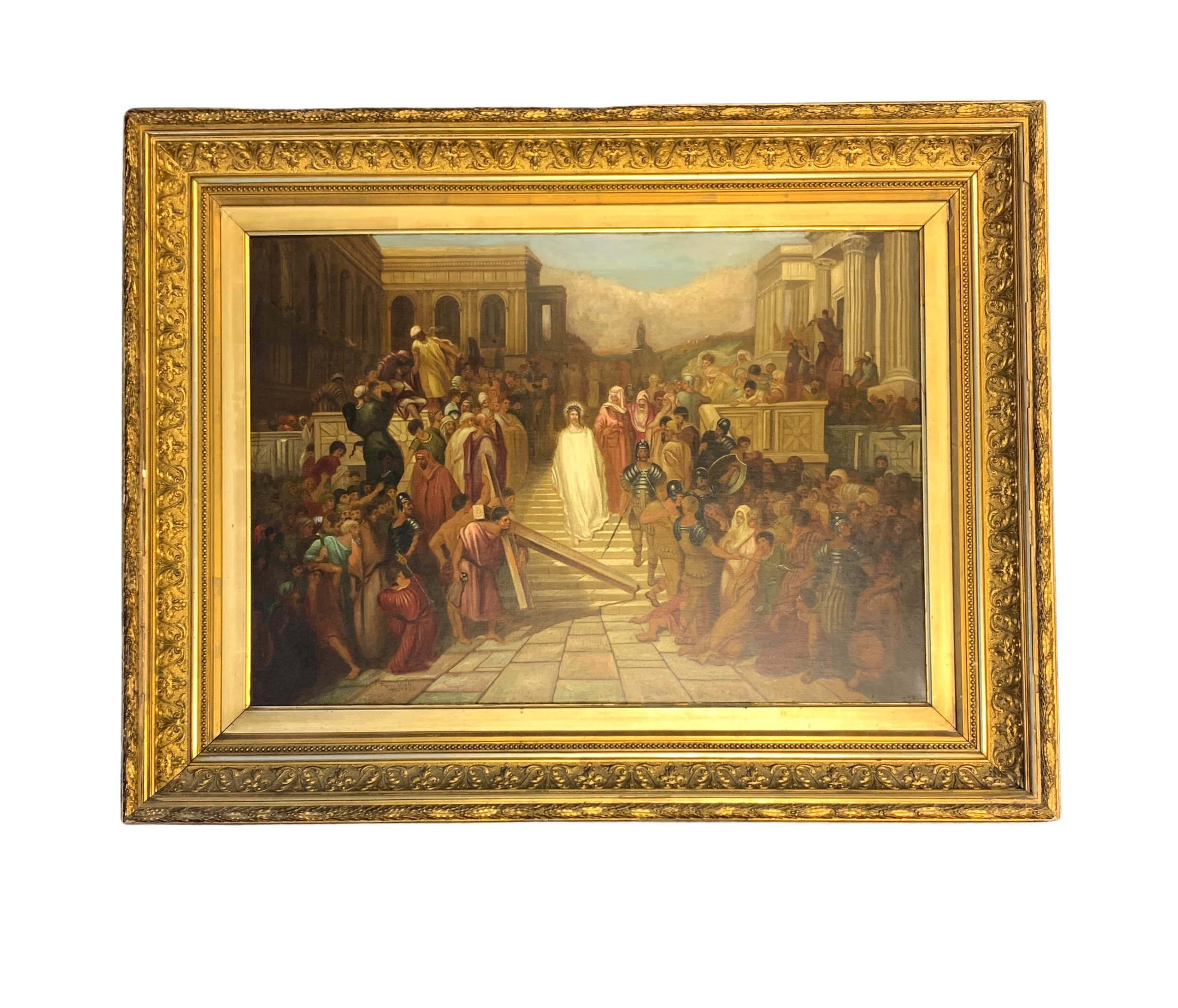 oil on canvas painting depicts christ by eugene hindle