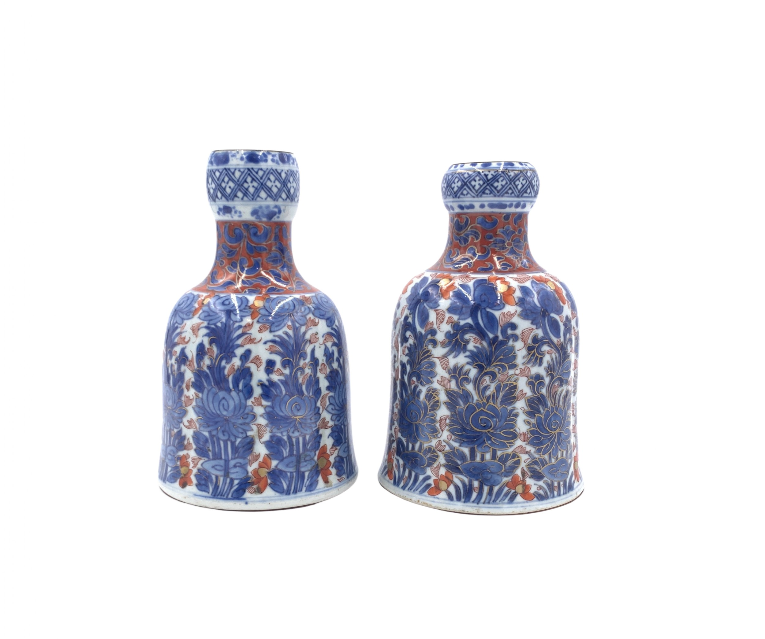 pair of chinese imari decanters phoenix kangxi period 18th century