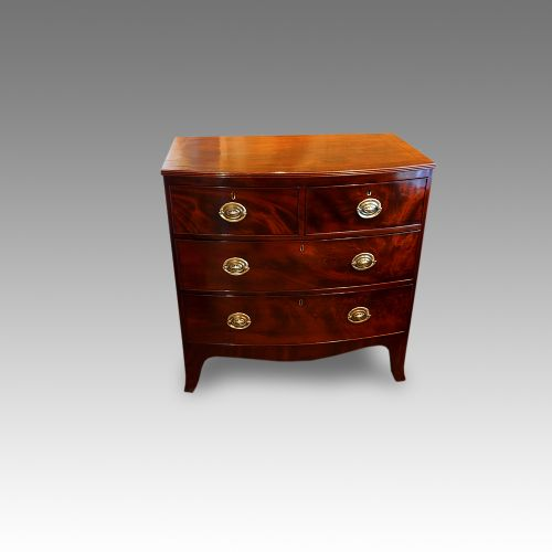 antique mahogany small bowfront chest