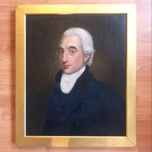 oil portrait paintings of a gentleman english school hunt master c1803