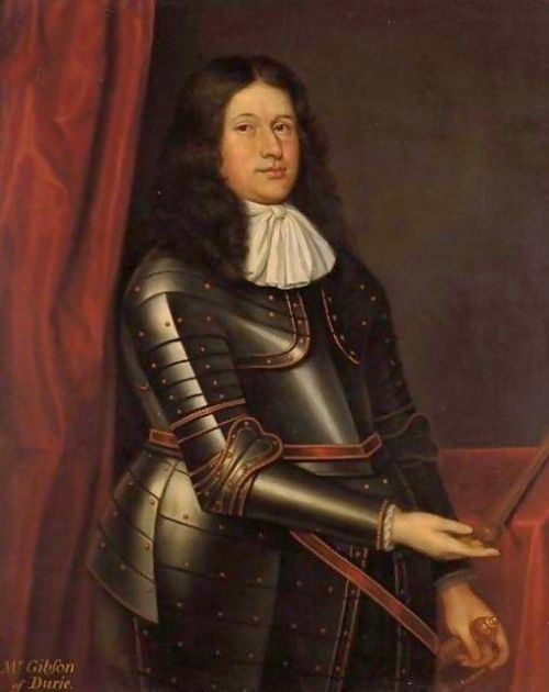 mr gibson of durie 17th oil portrait painting attributed to david scougall 16611677