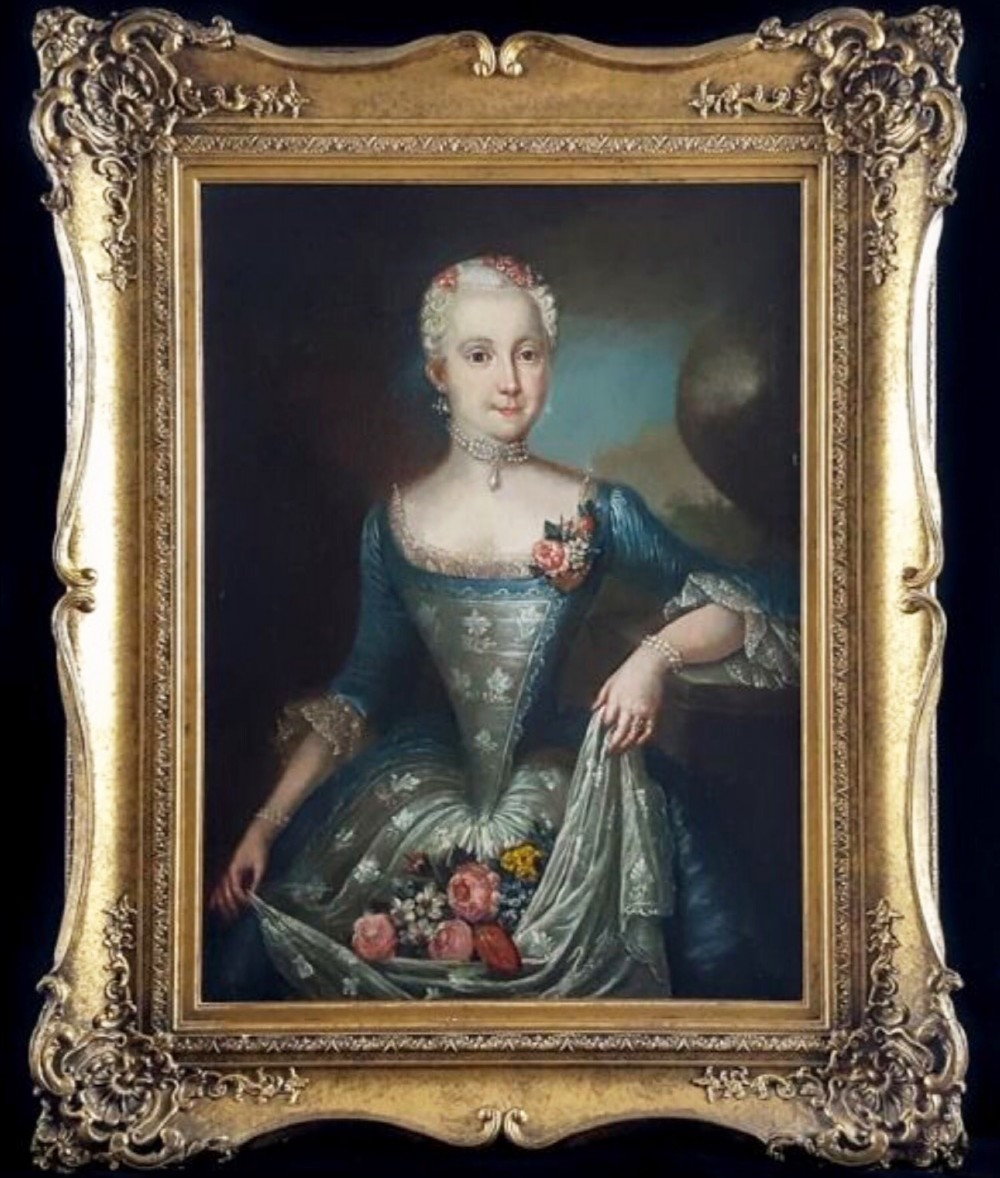 portrait of a swedish lady with flowers by ulrika fredrica pasch 1735 1796 18thc oil paintings