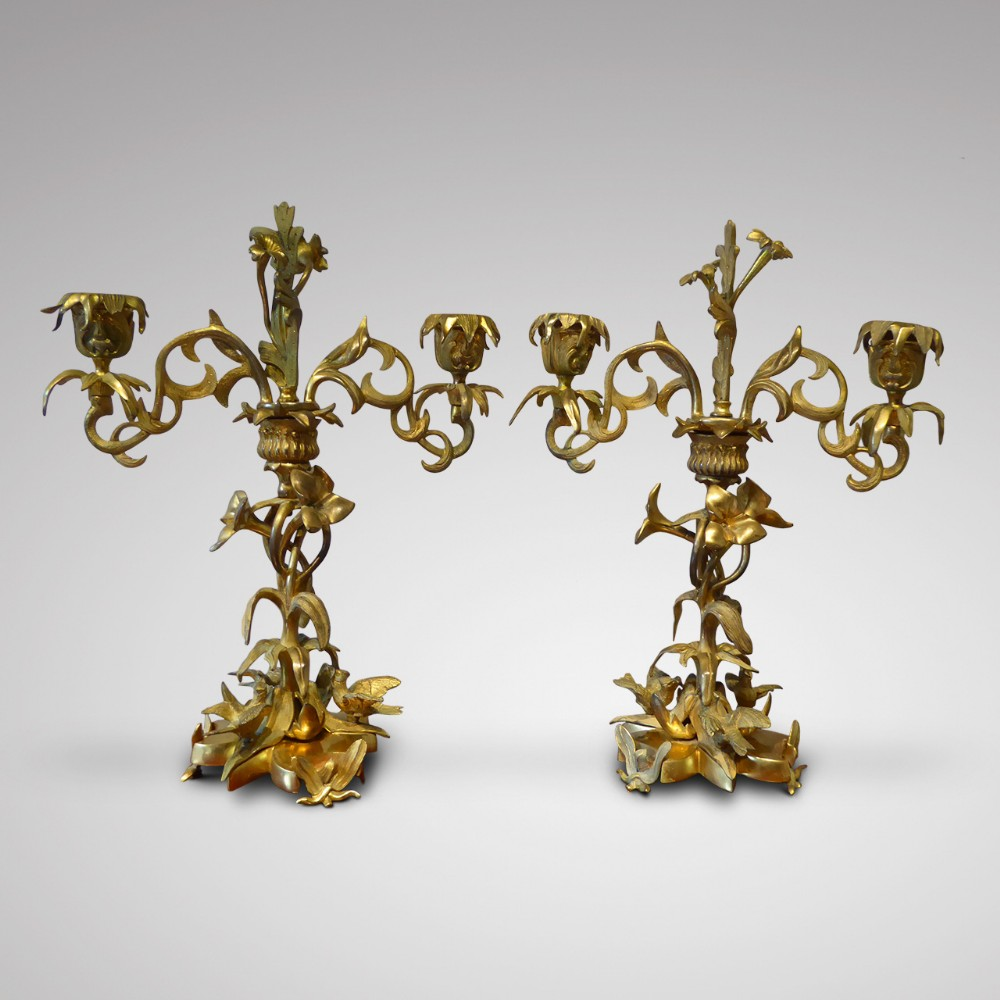 a pair of french louis phillipe candelabra