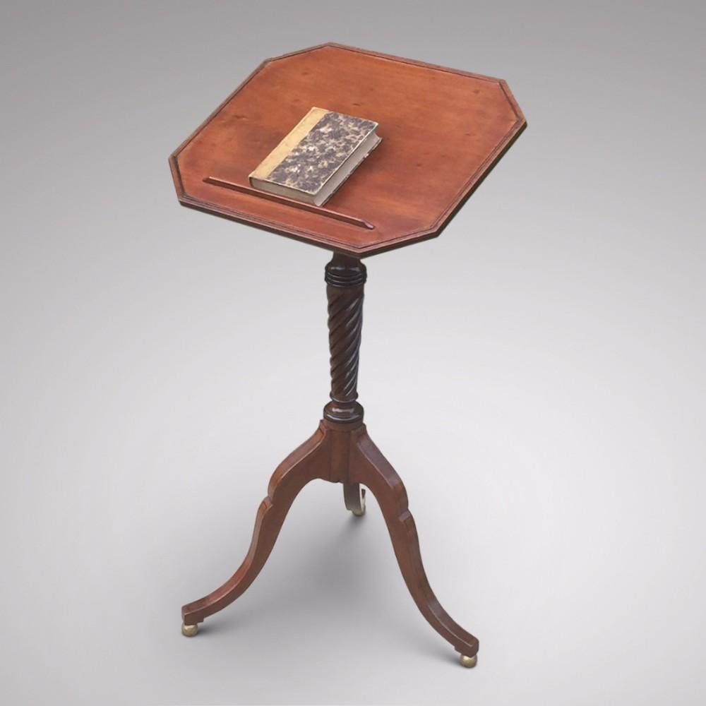 regency mahogany reading table
