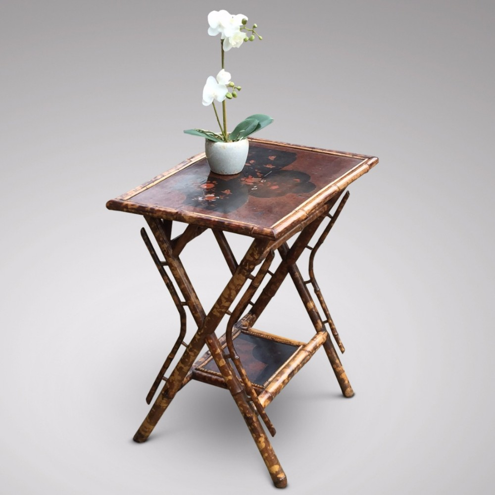 An unusual victorian bamboo side table 466859 for Bamboo side table