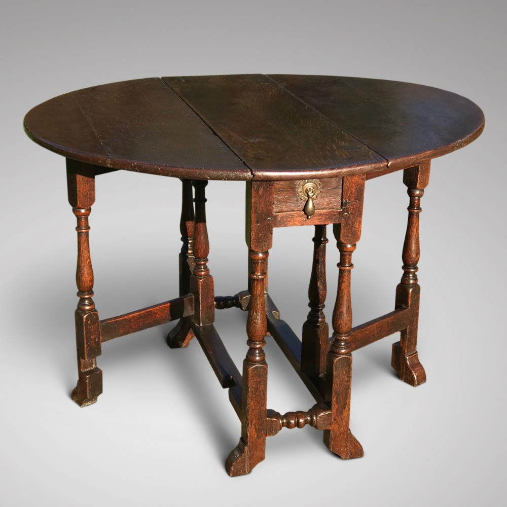 small 17th century oak gateleg table