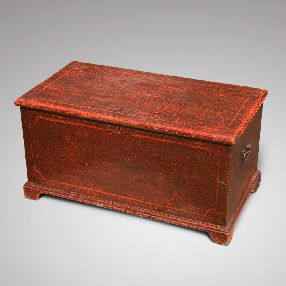 victorian scumble painted pine blanket box