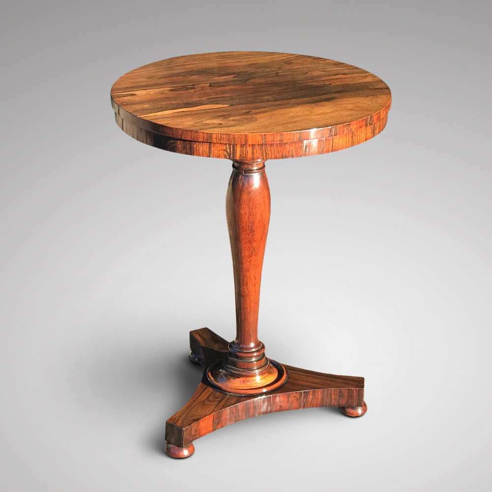 william iv rosewood circular tilt top lamp table