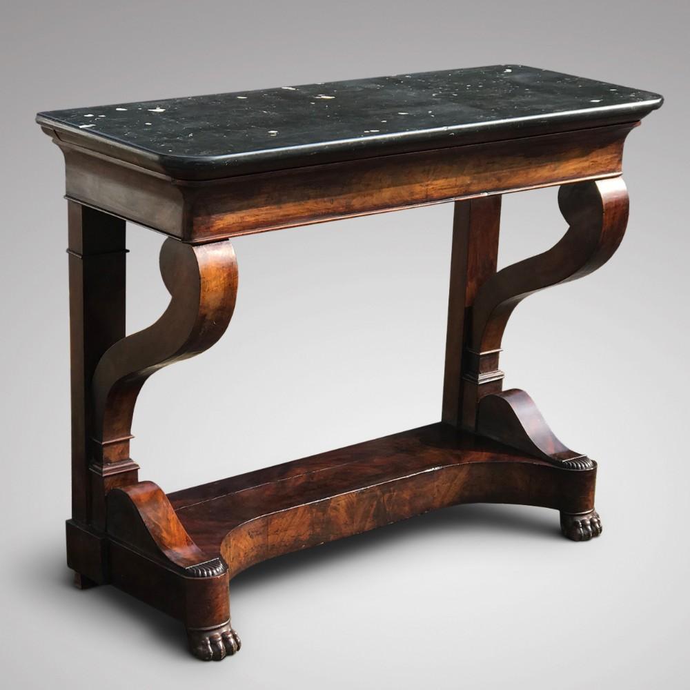 19th century french mahogany console table