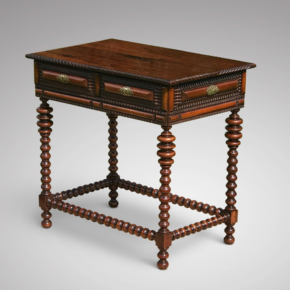 a superb 19th century rosewood walnut centre table
