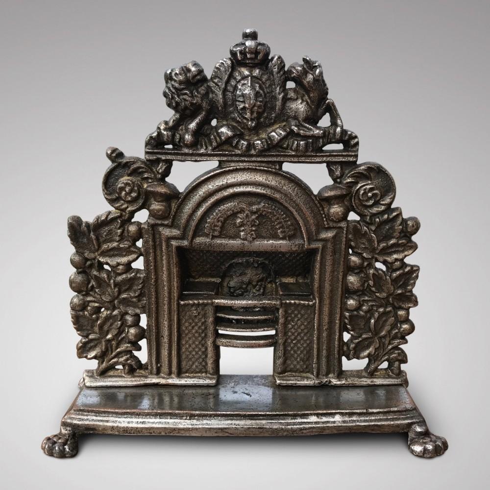 19th century sample cast iron fireplace