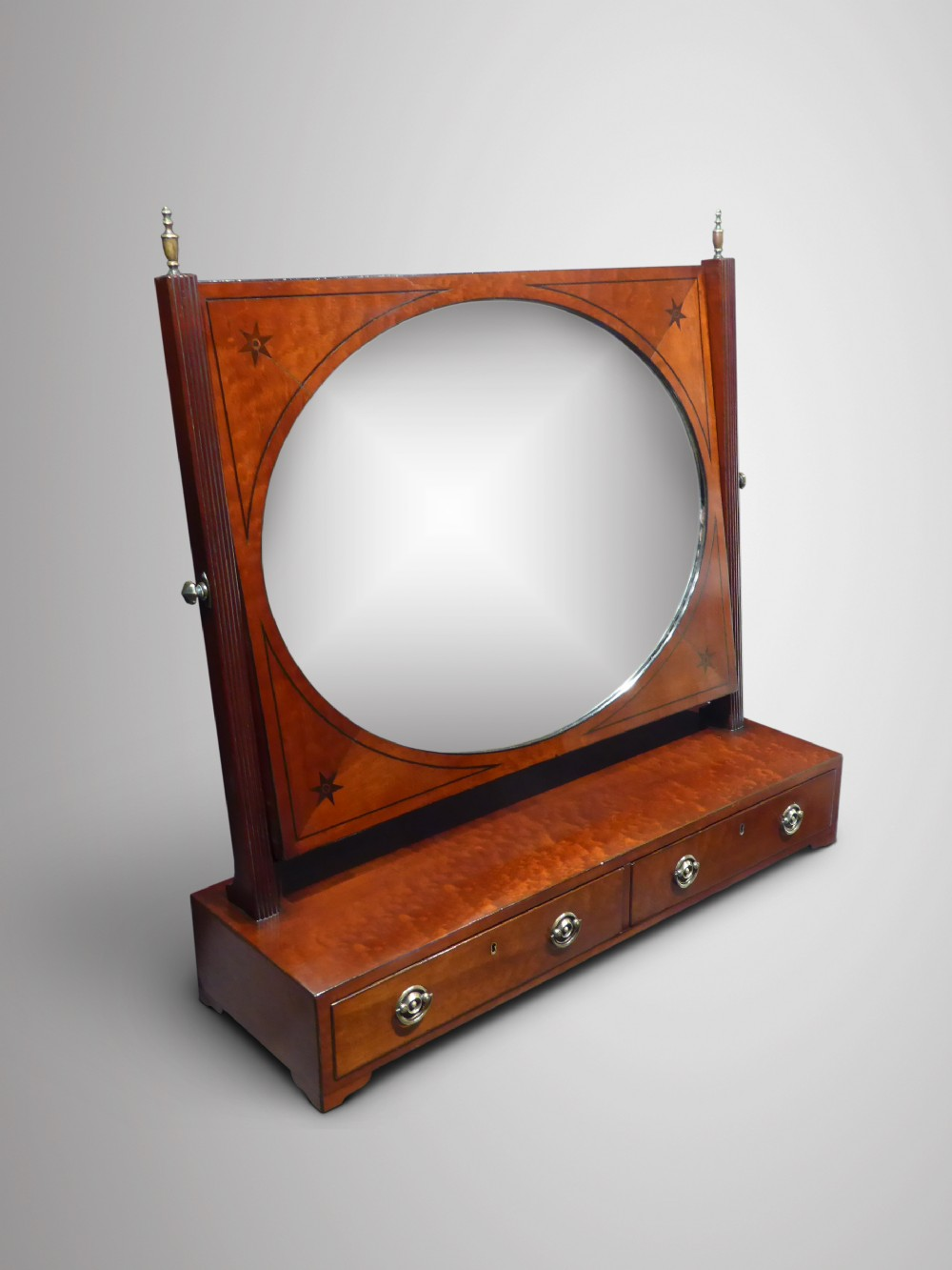 regency mahogany dressing table mirror