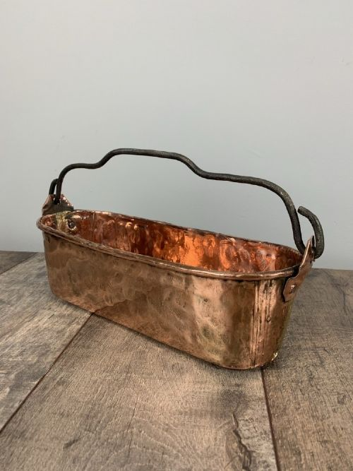 french hammered copper fish kettle window planter