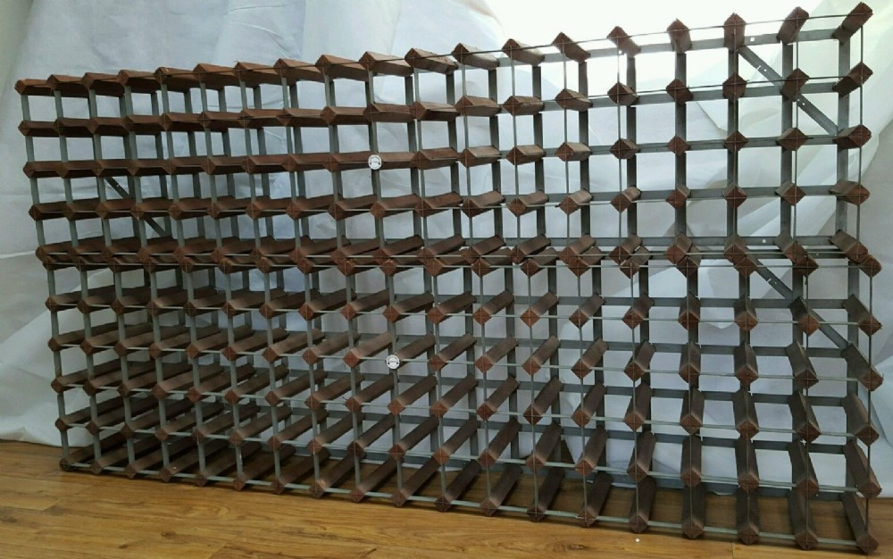 two large antique wine racks made by london maker farrow jackson ltd - Two Large Antique Wine Racks Made By London Maker - Farrow & Jackson