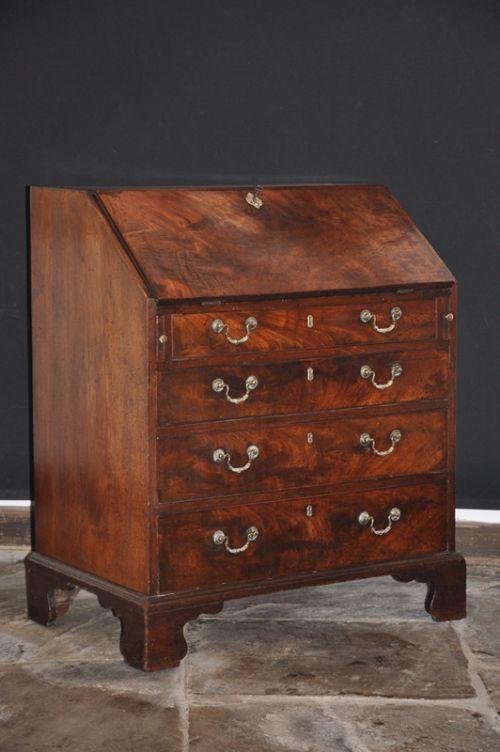 small 18th century mahogany bureau
