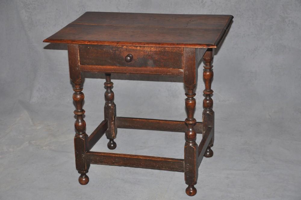 small 17th century oak side table