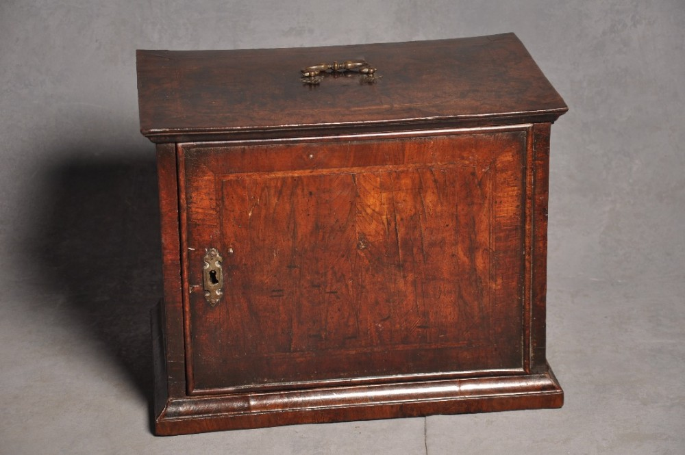 rare 17th century walnut cabinet