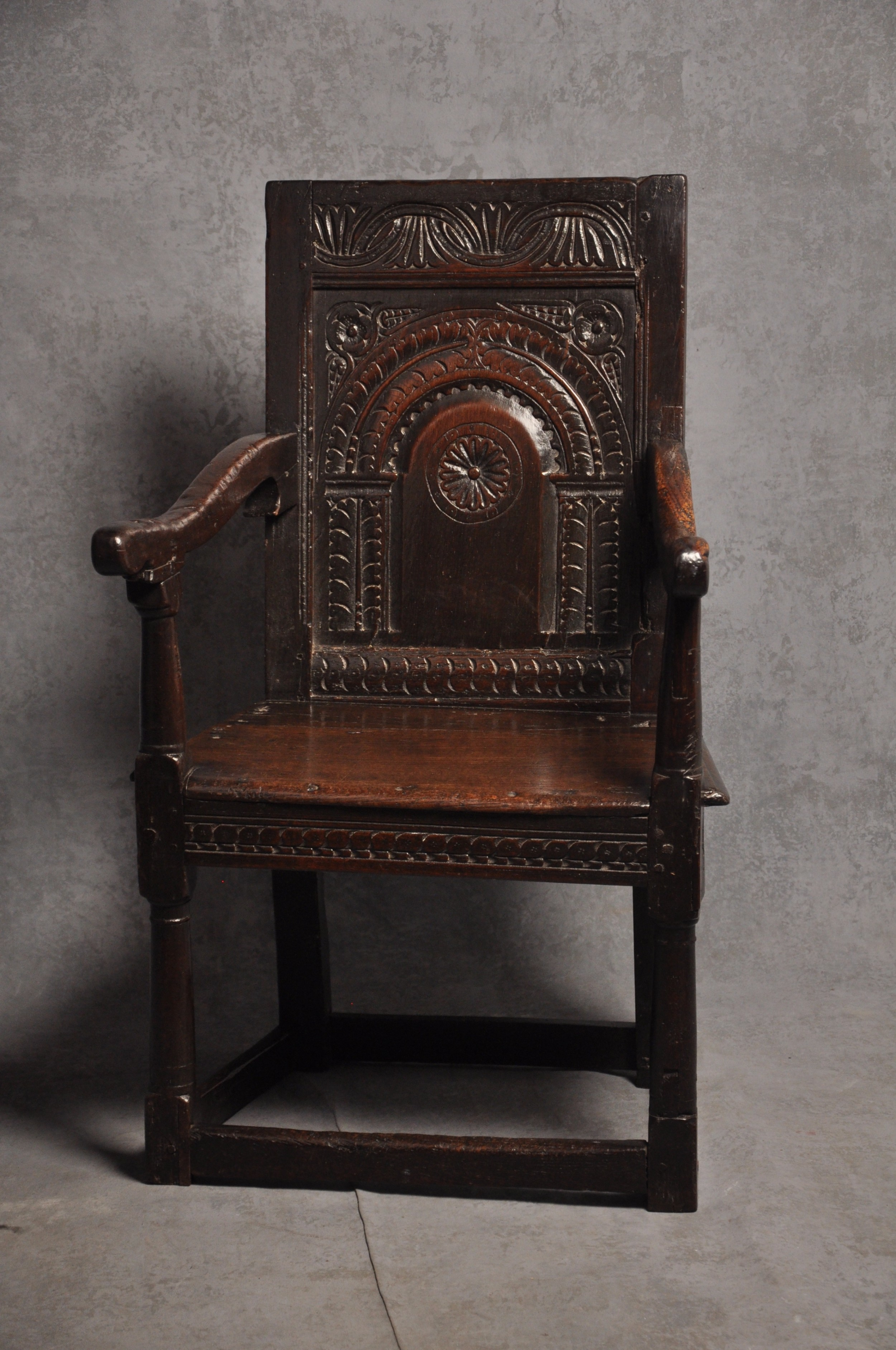 17th century oak wainscot chair