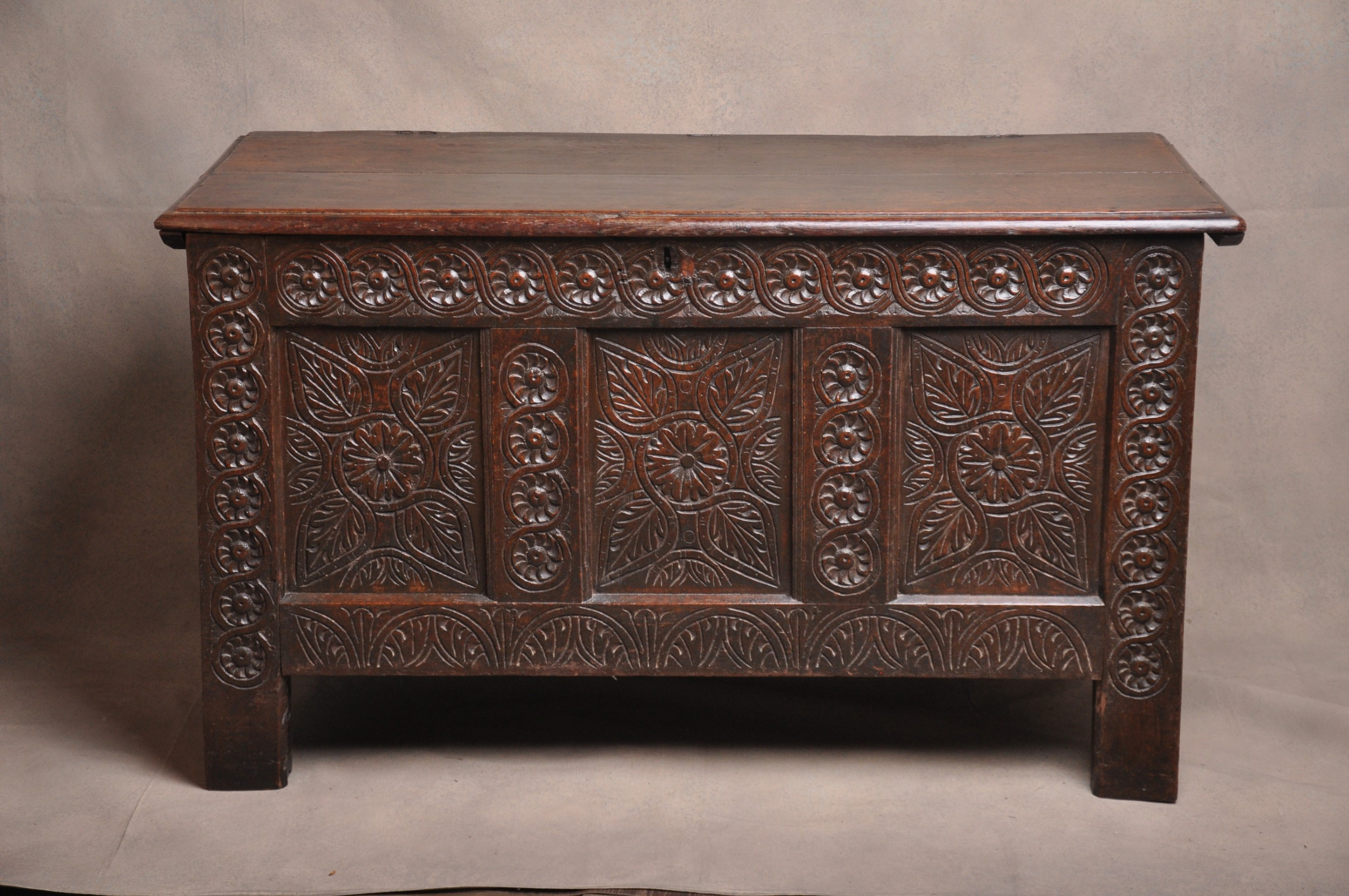 17th century west country coffer