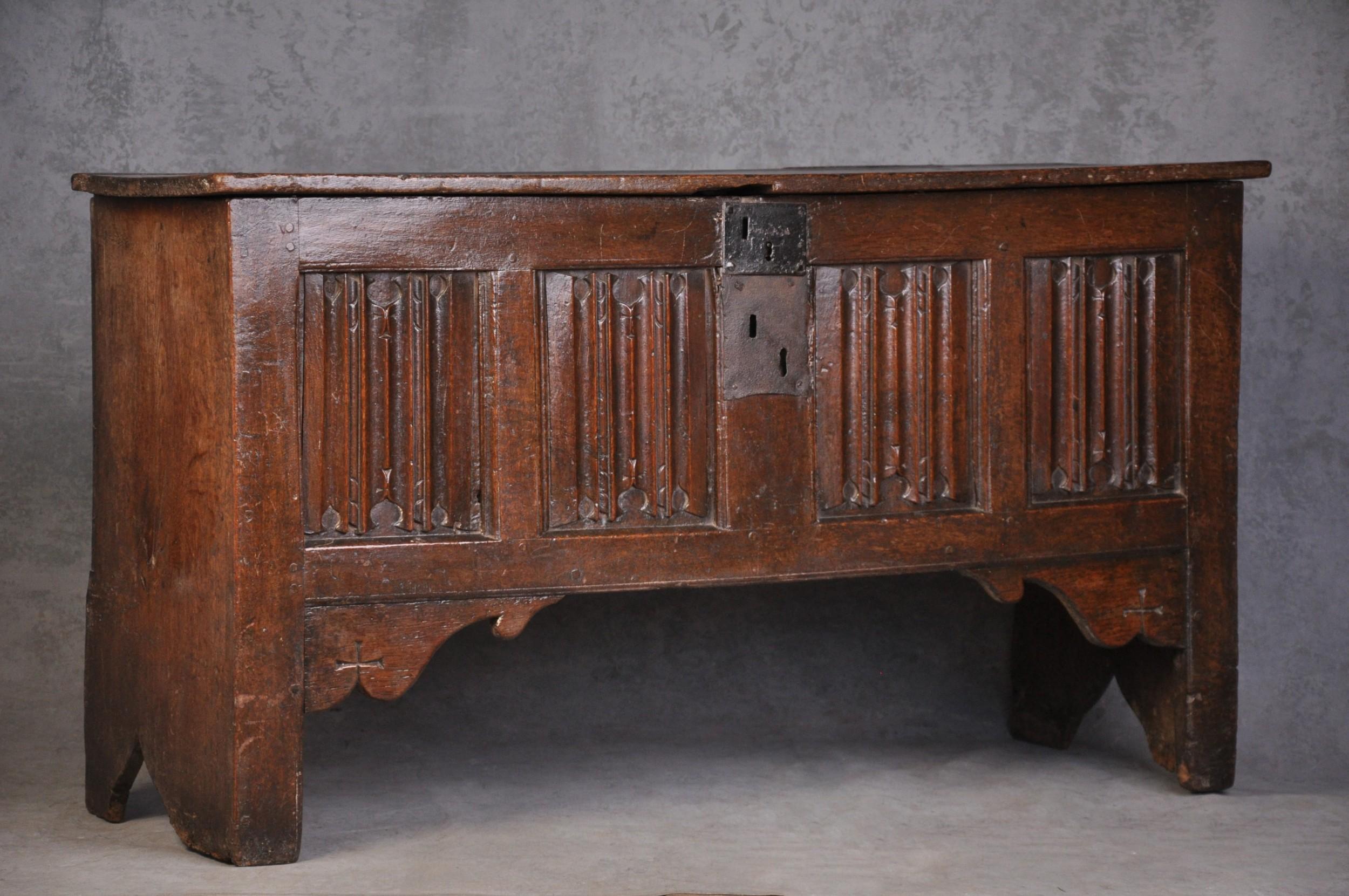 16th century oak coffer