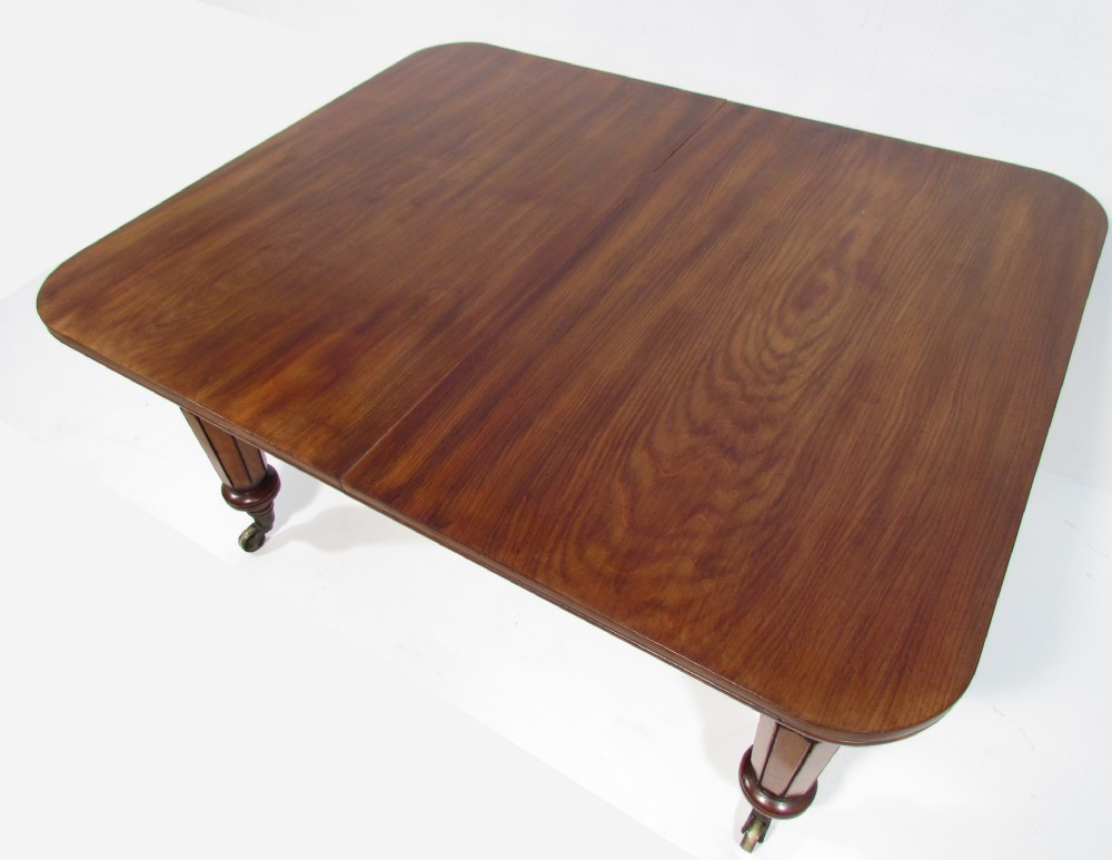 An Exceptional William Iv Solid Flamed Mahogany One Leaf