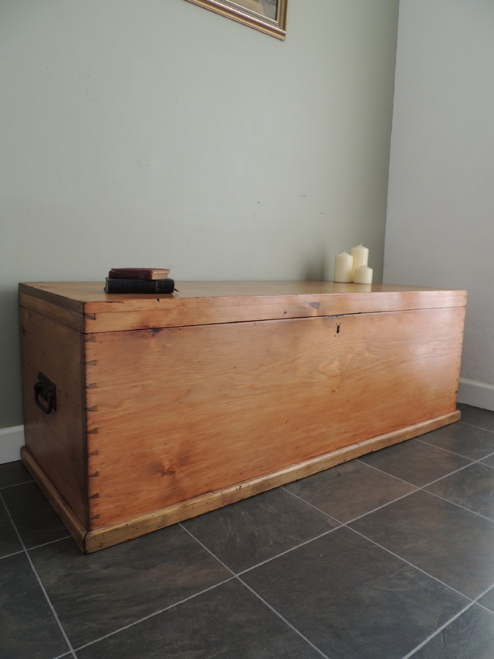 stunning solid pine victorian blanket chest box extra large