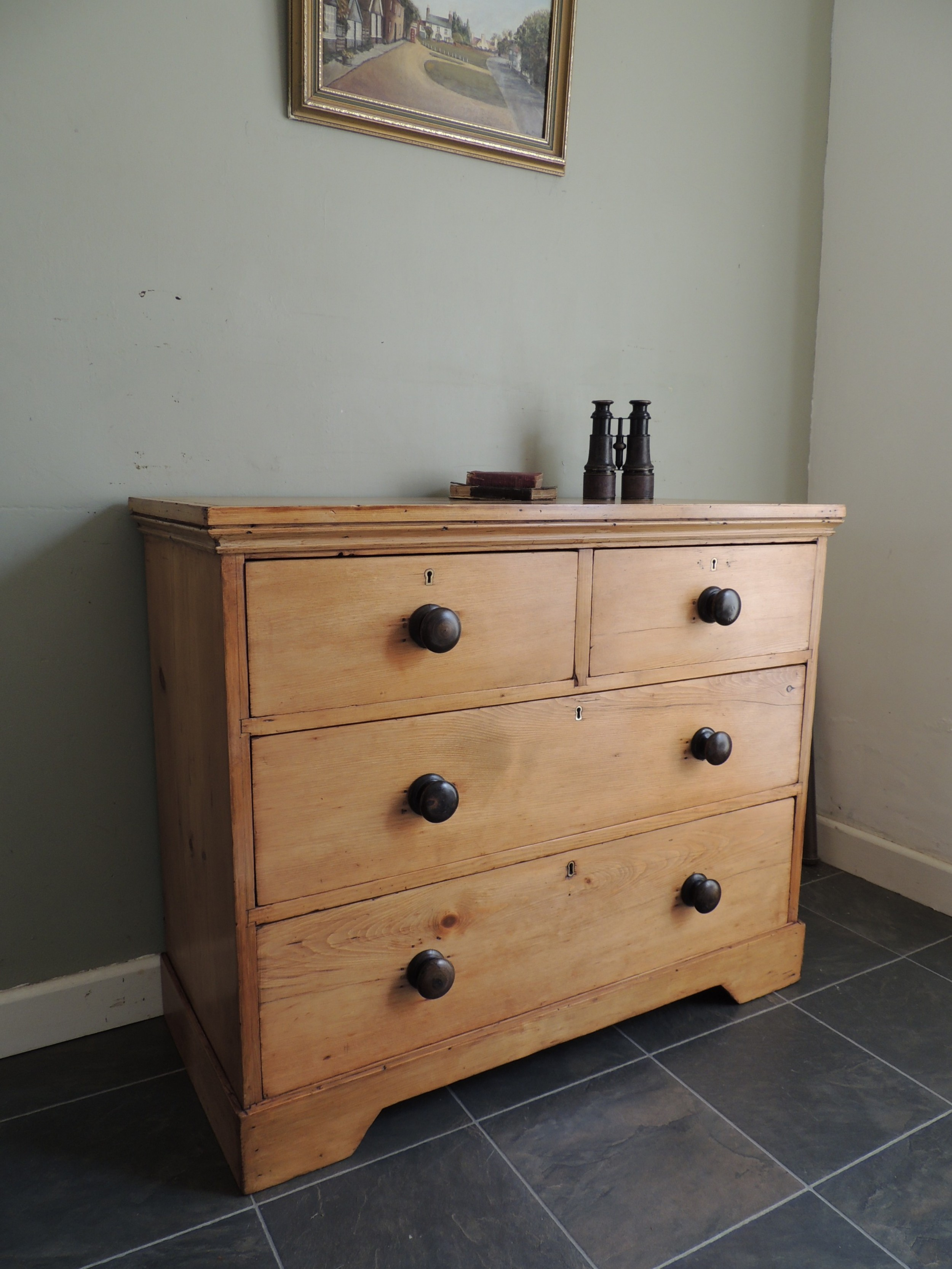 stunning victorian solid pine chest of drawers