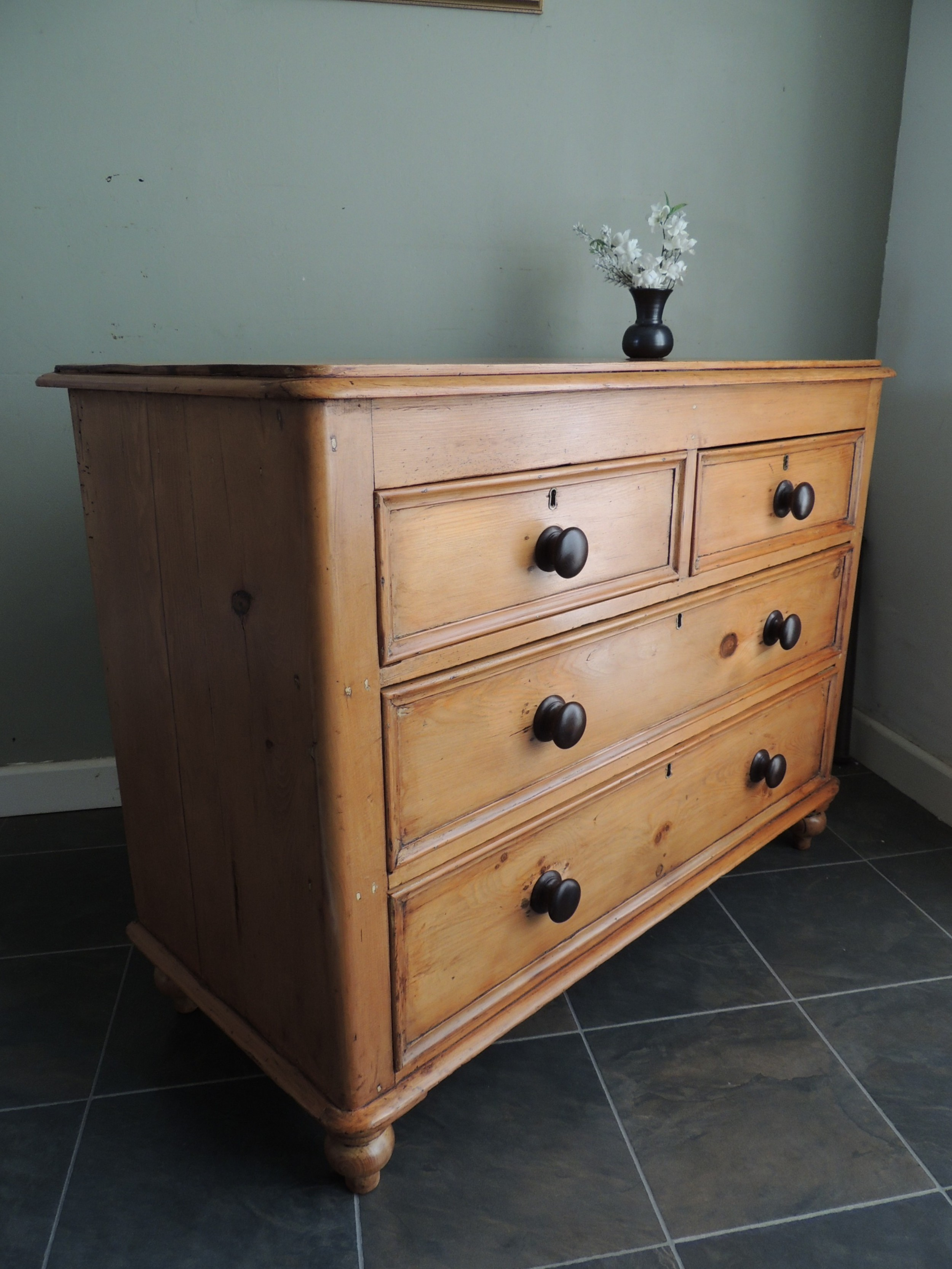 absolutely fabulous solid pine victorian chest of drawers