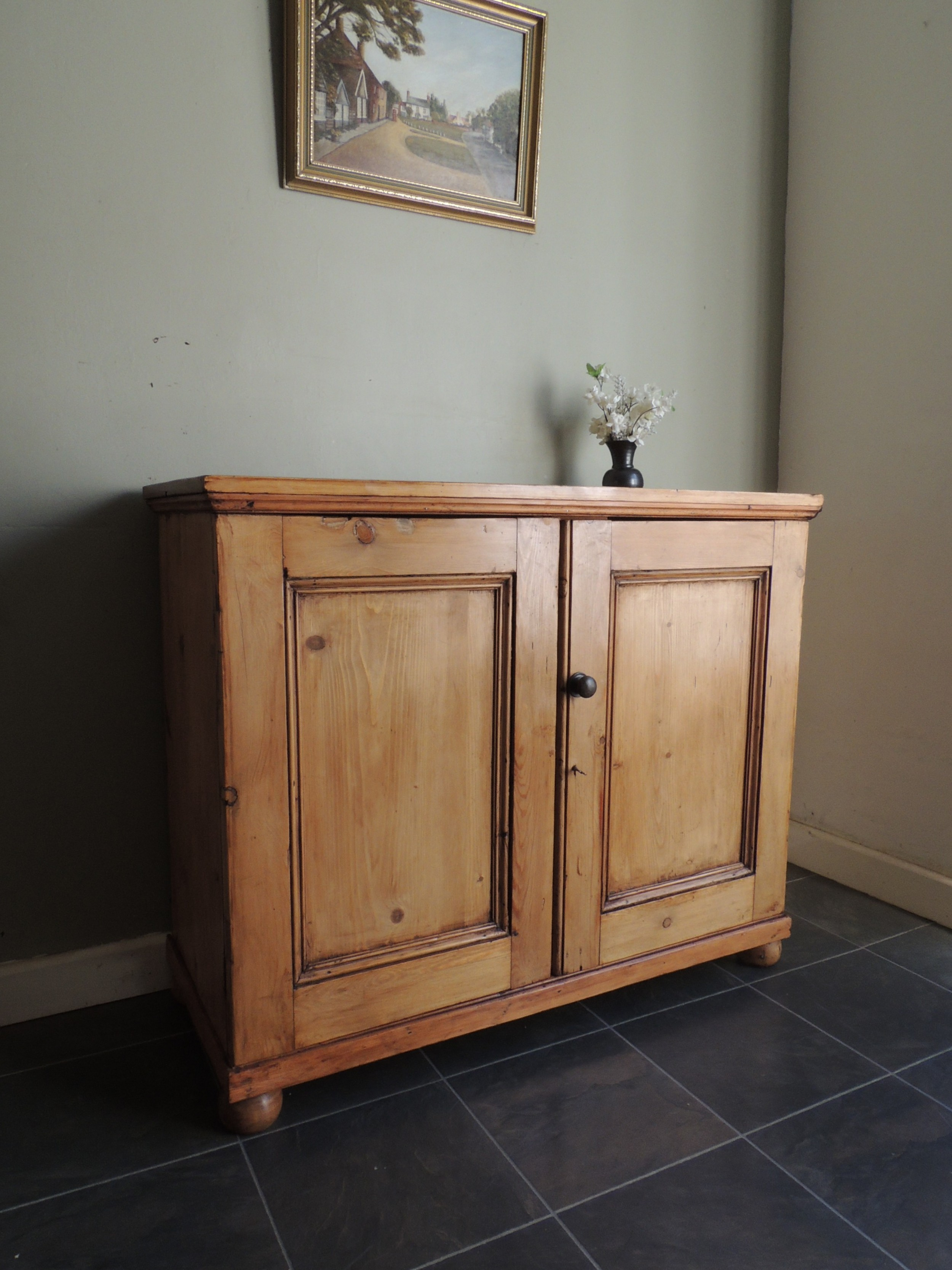 beautiful solid pine sideboard with key