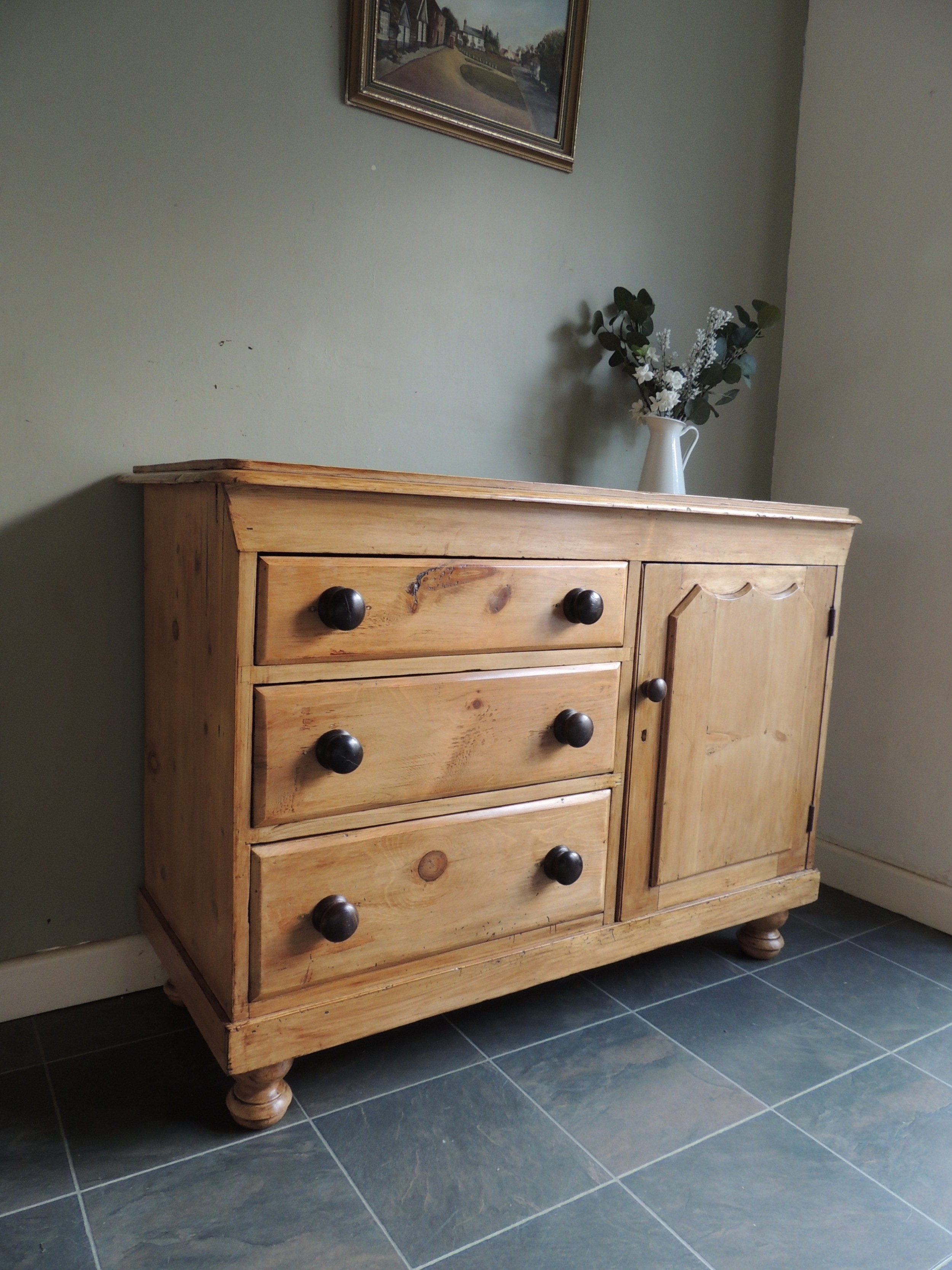 gorgeous large solid pine sideboard