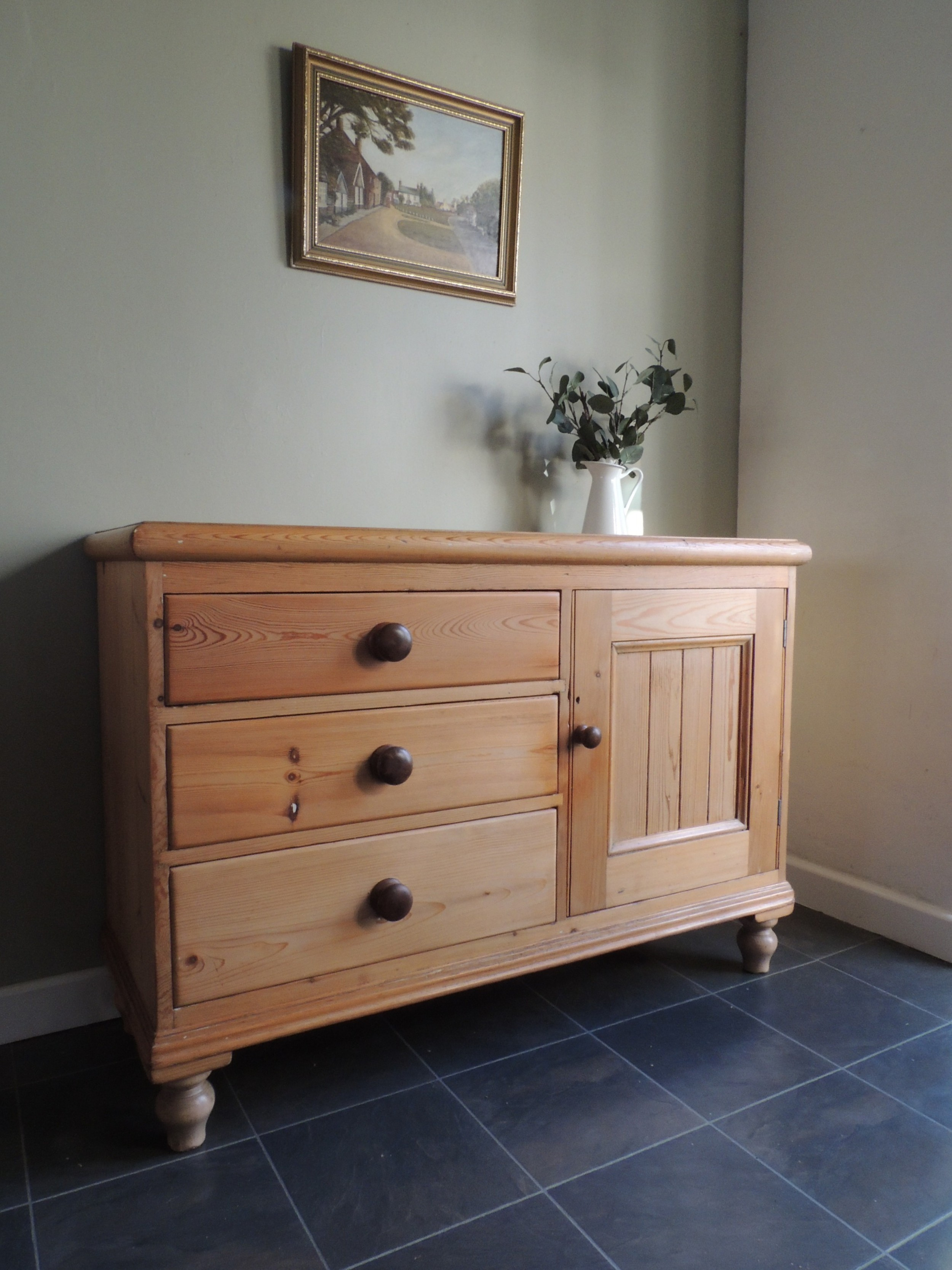 lovely large pine farmhouse sideboard