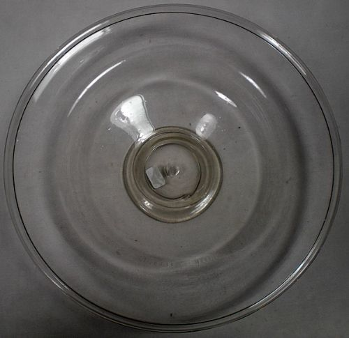 a rare soda glass low tazza with folded rim and foot english c1680