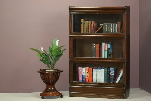 early 20th century oak 3 section globe wernicke stacking bookcase