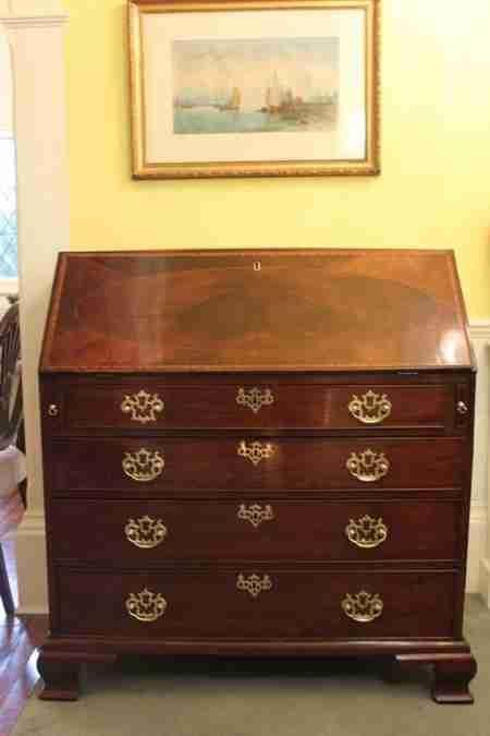 george iii period mahogany bureau
