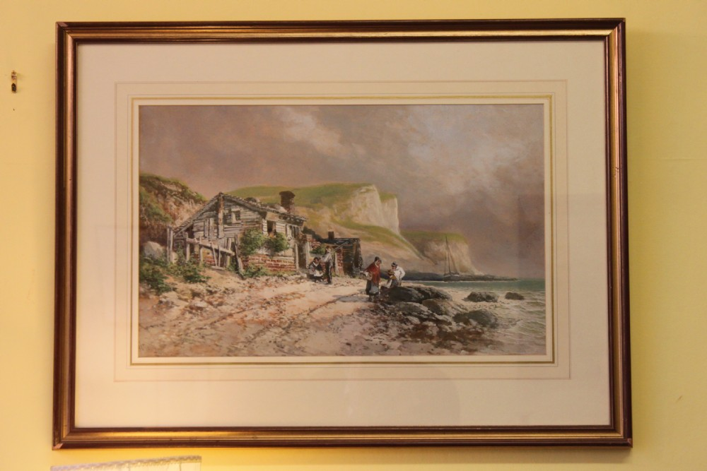 framed victorian watercolour by henry valter