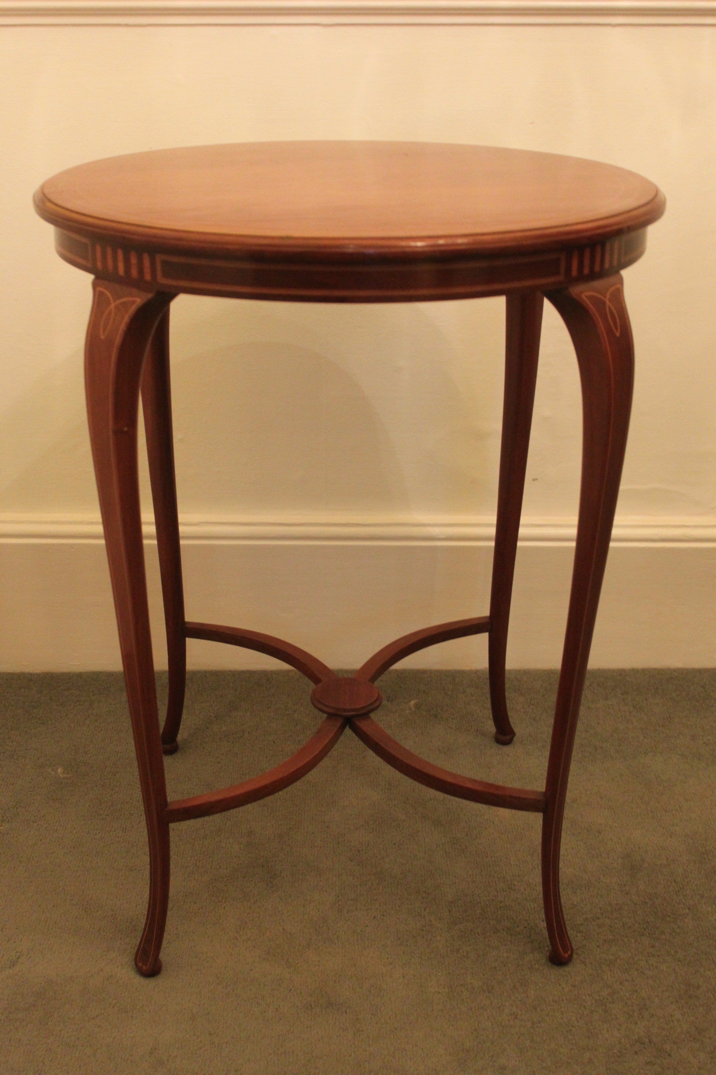 late 19thearly 20th century edwardian inlaid mahogany occasional table