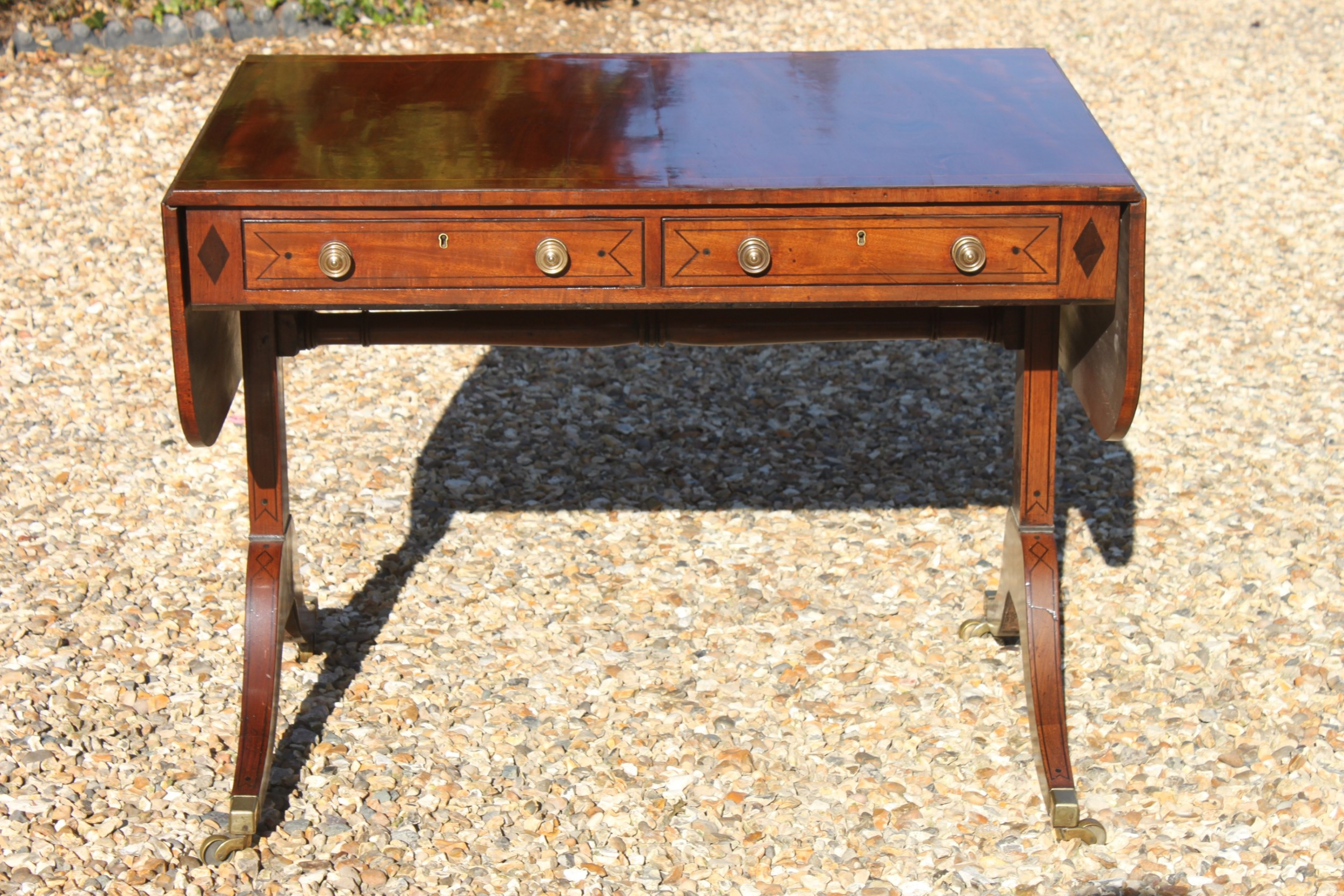 late 18th century mahogany and inlaid sofa table