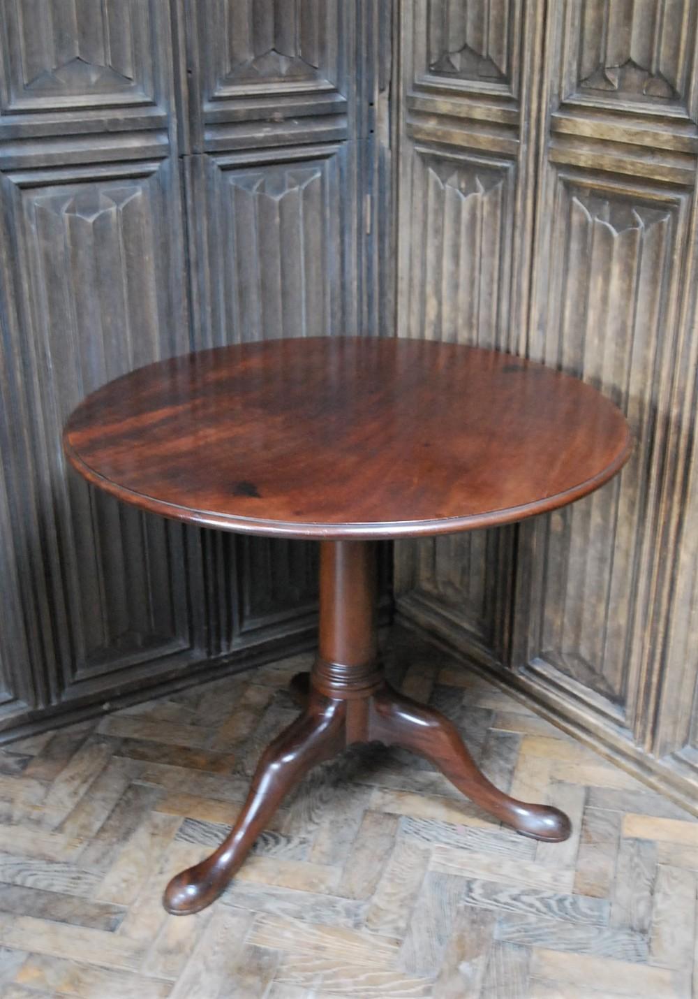 cuban mahogany tilt top tripod table
