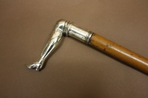c19th novelty walking stick