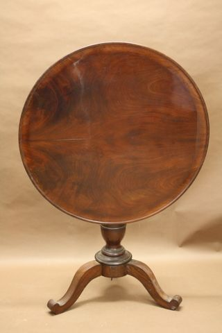 c19th flame mahogany tripod table