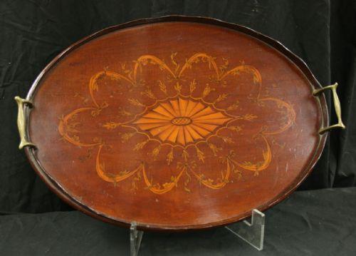 late victorian inlaid mah tray