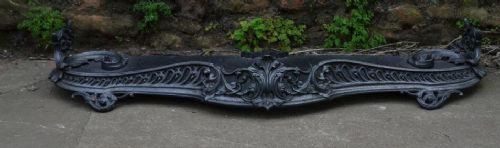 early victorian cast iron fender