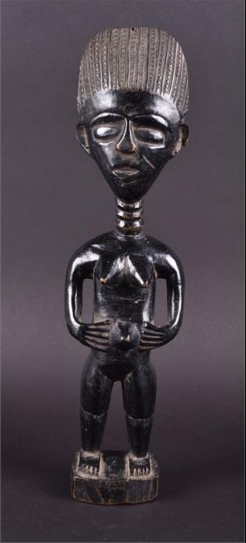 early c20th carved figure luba of the democratic republic of congo