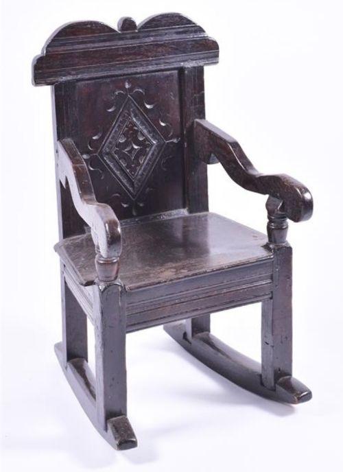 c17th oak childs rocking chair