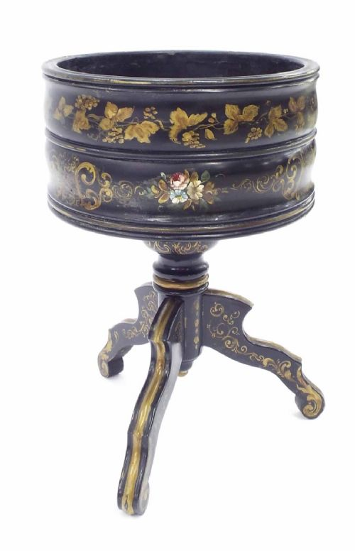 c19th painted planter