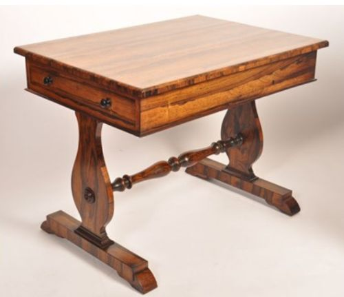 a c19th rosewood small library table