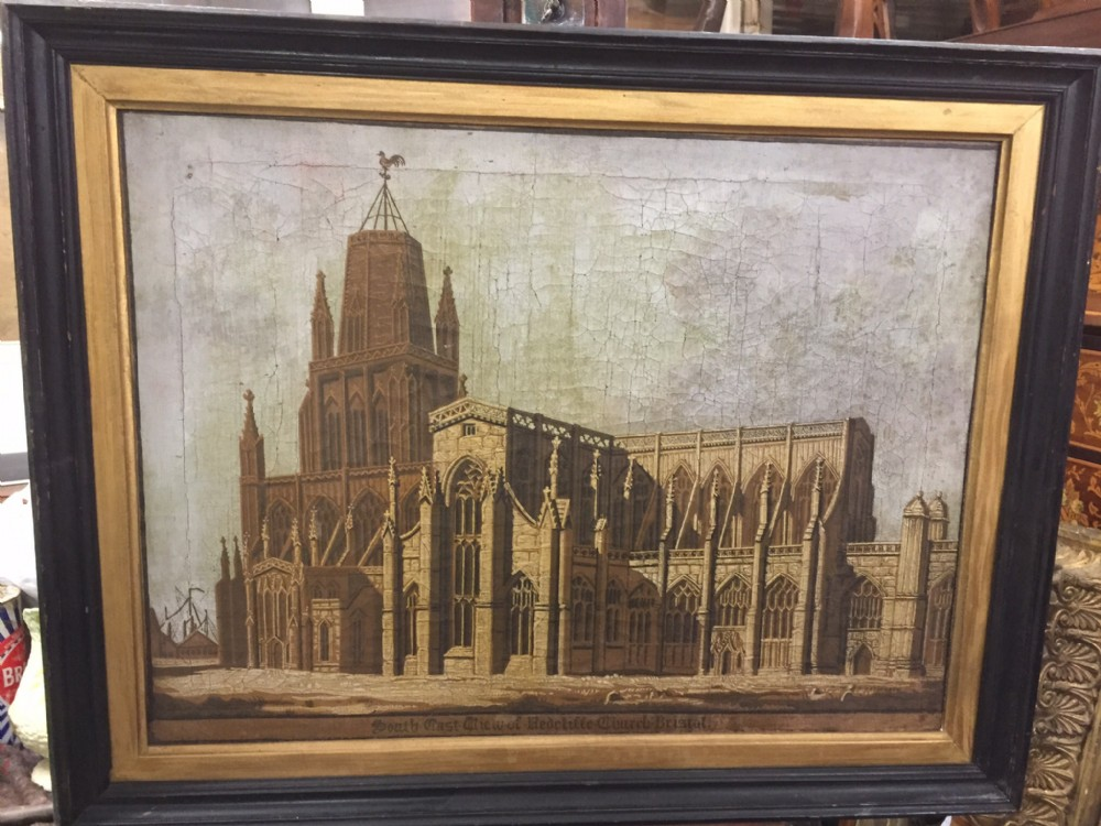 oil painting of st mary redcliffe bristol